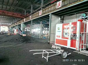 开山集团再次购买510X610造型机