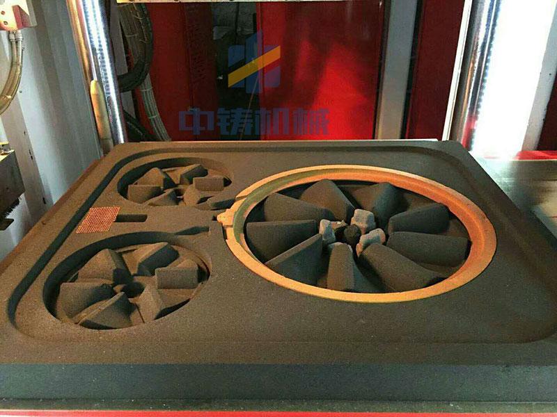 全自动造型机造型砂型效果